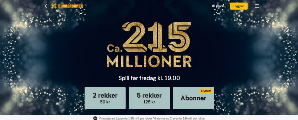 Eurojackpot hos Norsk Tipping